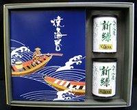 仏事用「特選」焼海苔3帖と銘茶セット